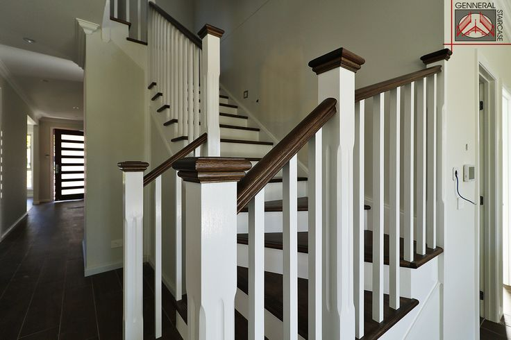 Hampton Style Stairs | Made by Genneral  Treads and Handrail of Victorian Ash.