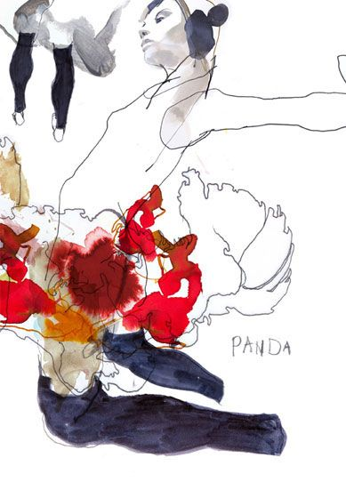 Bleeding Color Silhouettes: Amelie Hegardt's Illustrative Watercolor Fashion…