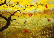 Apple Tree With Red Fruit  by Paul-Elie Ranson