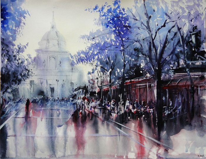 17 Best Images About Aquarelles Watercolors On Pinterest Paris Acrylics And Water Colors
