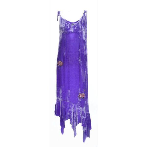 Purple Grape Love Rat Velvet Slip Dress ($430) ❤ liked on Polyvore featuring dresses, velvet slip dresses, purple velvet dress, velvet dresses, purple velvet dresses and slip dresses