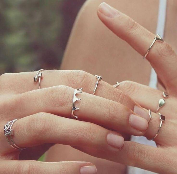 Selfie Princess Sterling Silver Midi-Ring Set #BlingJewelry