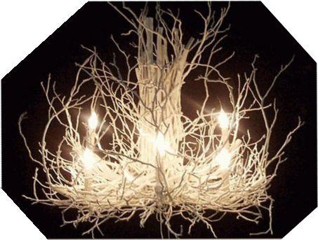 Twig chandelier tutorial, creative lighting, DIY home decor