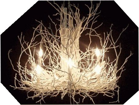 Twig chandelier tutorial, creative lighting, DIY home decor