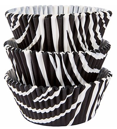 50 PC Animal Print (Zebra) Cupcake Wrappers - Custom Wrapper and Liners from Bakell