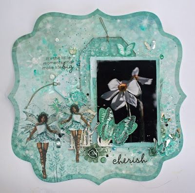 Layout made with Fairy Dust Collection for Kaisercraft. Created by Kirsten Hyde
