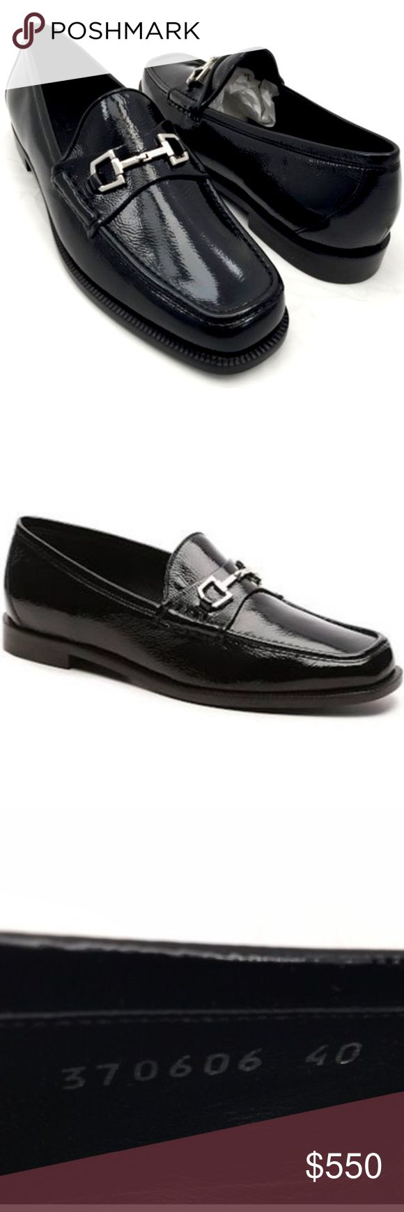 Gucci Horse Bit Loafer Gucci Horse Bit Loafer  Composition Leather Size 40 Retail $595  100% Gucci   To place your mind at ease the shoes will go thru Poshmark concierge service to authenticate Gucci loafers  Source Gucci boutique   If interested I do encourage that you place a offer; as I will not drop this price. Gucci Shoes Flats & Loafers
