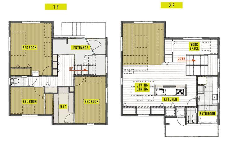 注文住宅施工事例間取り図