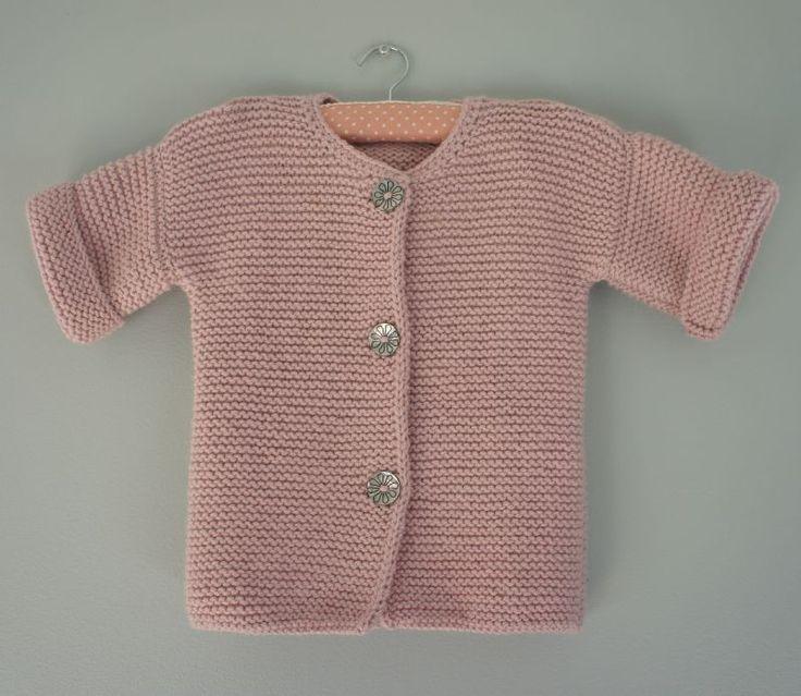 Veste de fille tuto 3 ans chaque morceau tricoté séparément
