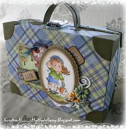 My Craft and Garden Tales: Paper suitcase - tutorial