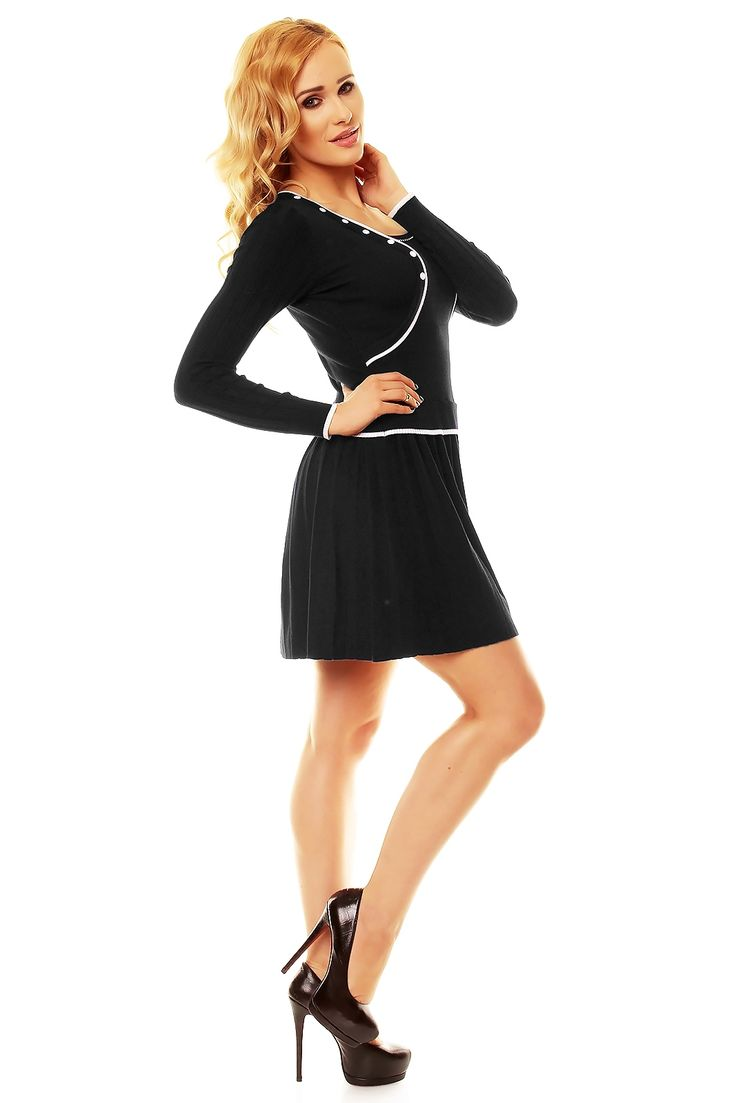 Black dress wool 45% polyamid 25% kashmir 20% elastan 10%  #fashioneda