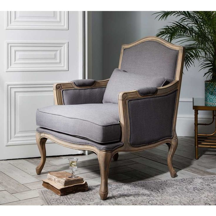 Grey Armchair By The French