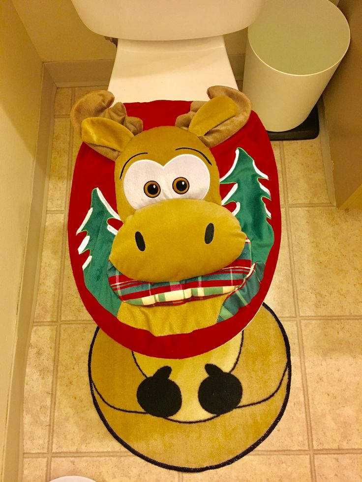 31 Best Christmas Toilet Seat Cover Images On Pinterest