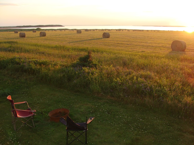 Sight from one of our campsites. Twin Shores Camping Area - Darnley, Prince Edward Island