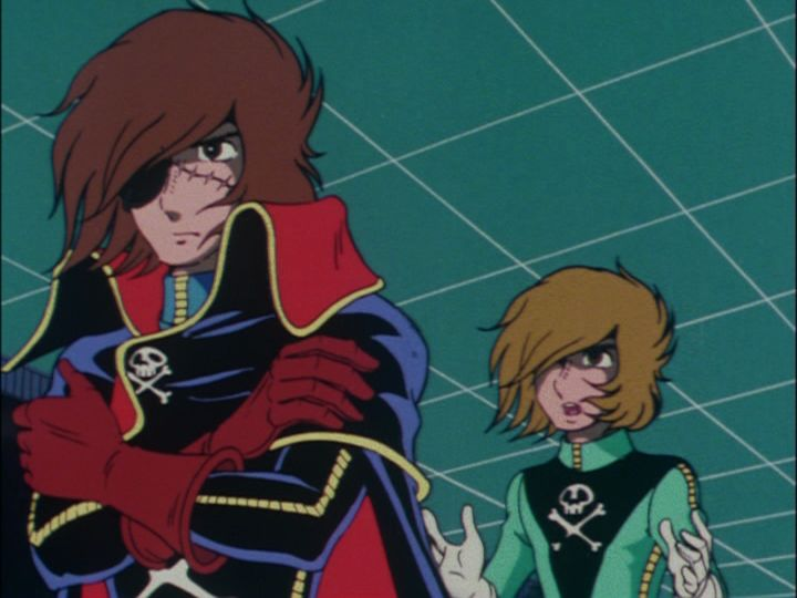 Tadashi Diaba gets frustrated with Captain Harlock again