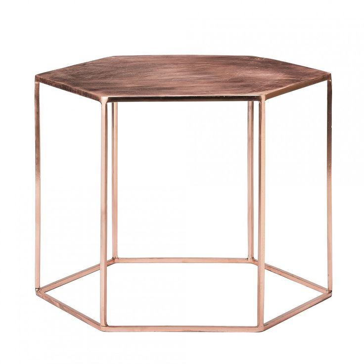 Metalowy stolik patyna miedziana Bloomingville #table #coffee #coffeetable #home #modern #design #homedecor #homedesign #furniture #metal