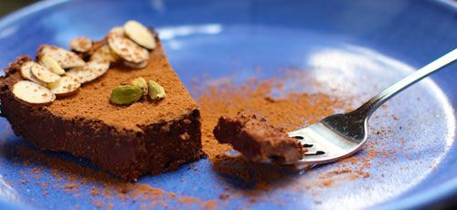 Chocolate Mousse Cake with Cardamom