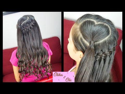 Corazon y Trenza Cascada con Truco - Heart and Faux Waterfall | Para San Valentin | Chikas Chic - YouTube