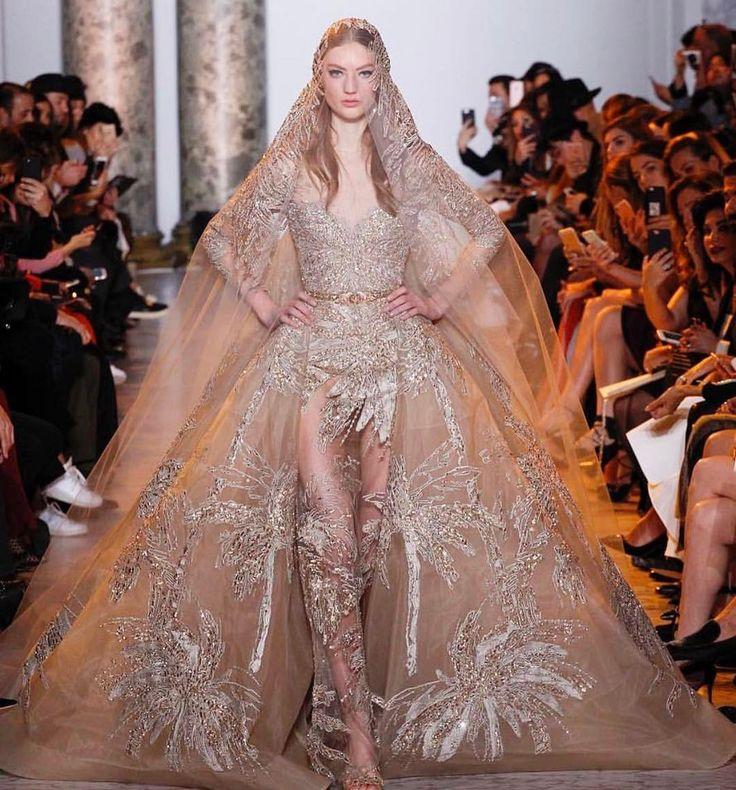 next level! @eliesaabworld via @voguebridesaustralia laceandembroidery#weddingplanning #weddingtips #vogue #designer #weddingdressdesigner #bridal #bridalcouture #bridalfashion #bridaldesigner #weddingphoto #weddinginspiration #weddingblog #bride #lace #embroidery #sydney #sydneydesigner #australian #parisfashionweek #fashionweek #beading