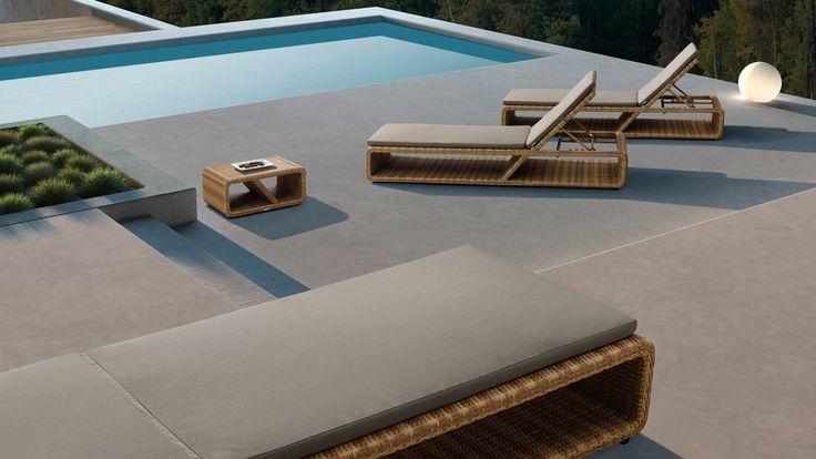 Palace - meble ogrodowe z technorattanu leżak ogrodowy - Twoja Siesta