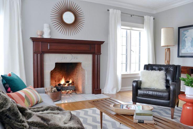 A classic fireplace setup. #homedecor #fireplaces #interiors