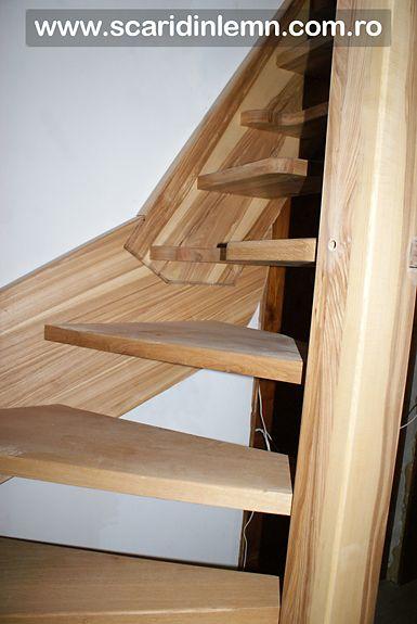 scari interioare din lemn pret cu vang si trepte economice cu pas combinat