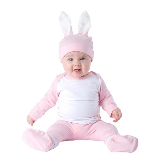 Cute pink bunny outfit for your baby girl...