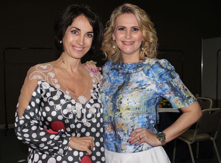 Claudia Matarazzo e a estilista Marci Vago de Colatina, MG um sucesso pelo mundo. #marcivago #claudiamatarazzo