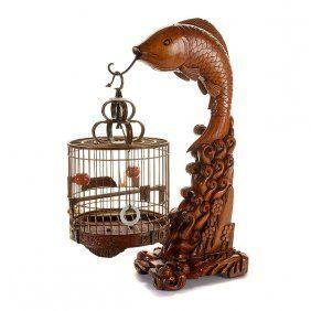 A Small Bamboo Birdcage