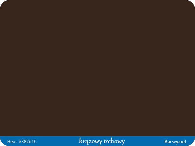 Kolor RGB HEX 38261C - brązowy irchowy - Sepia brown - Sepiabraun - Brun sépia - Barwy.net