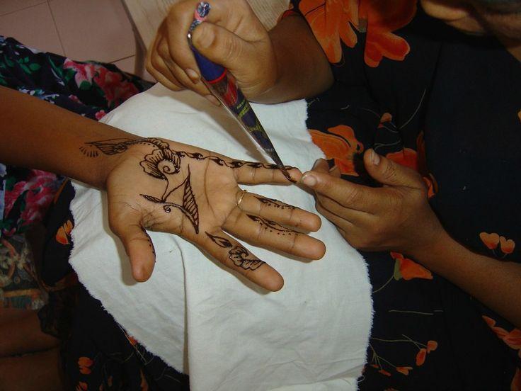 Moroccan henna tattoo