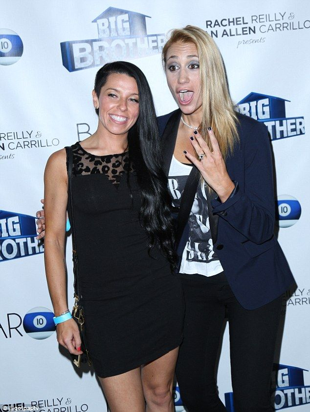 Said yes: Big Brother contestant and professional poker player Vanessa Rousso shows off her engagement with girlfriend Melissa Ouellet