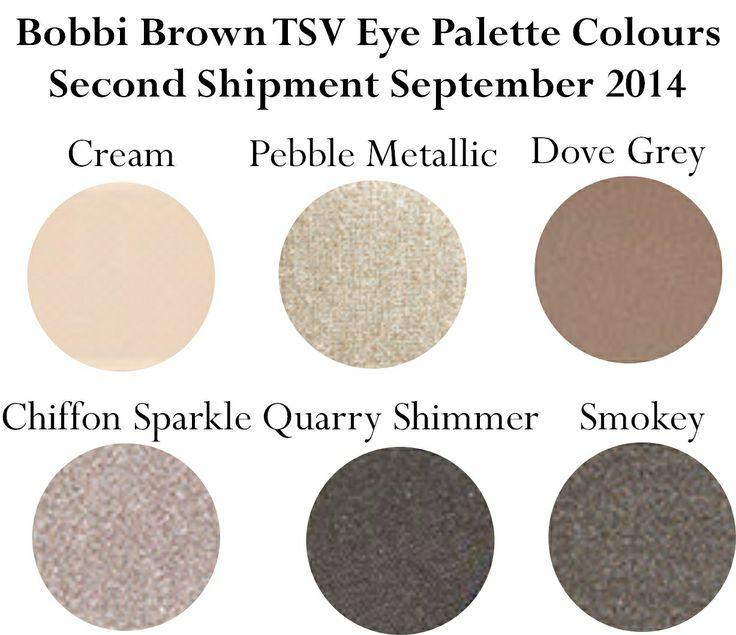Bobbi Brown Back to Basics September Auto shipment eye colours
