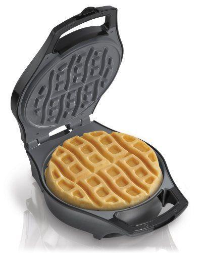 Hamilton Beach 26040 Mess Free Belgian Style Waffle Maker - http://sleepychef.com/hamilton-beach-26040-mess-free-belgian-style-waffle-maker/