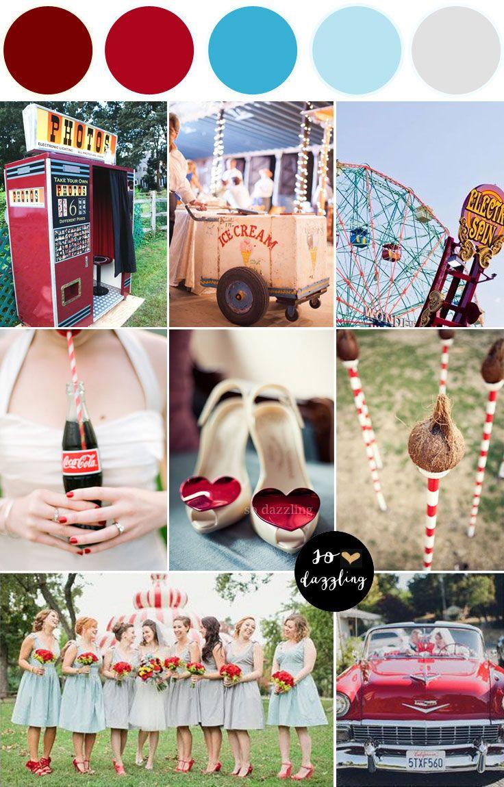 summer fete wedding -- carnival wedding