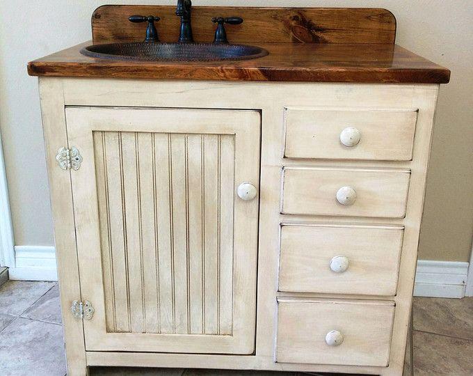 Rustic Bathroom Vanity 42 Quot Copper Sink Rustic Sink