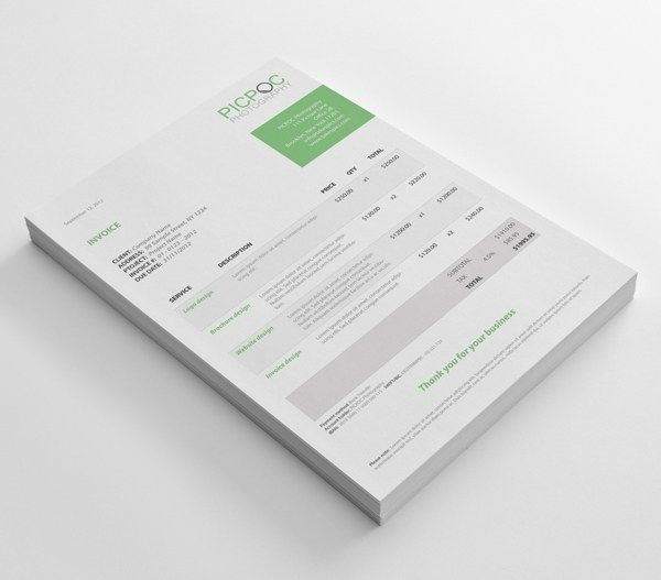 88 Best Invoice \ Proposal Design Images On Pinterest Invoice   Custom Made  Invoices  Custom Made Invoices