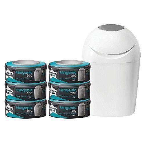 Oferta: 54.99€. Comprar Ofertas de Tommee Tippee Sangenic Tec - Set básico de contenedor de pañales (con 6 recambios) barato. ¡Mira las ofertas!