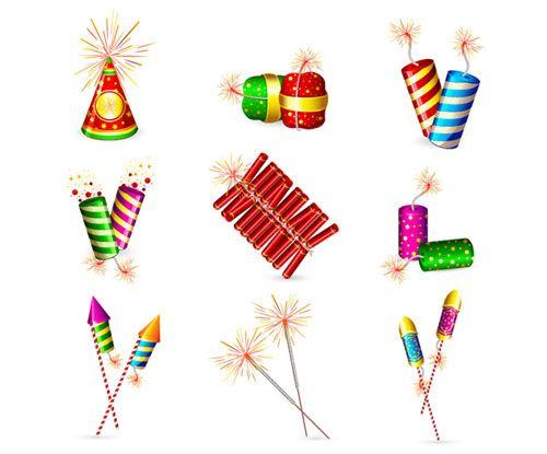 0551 Fireworks Crackers Rocket Spark Vector Jpg 500 215 415