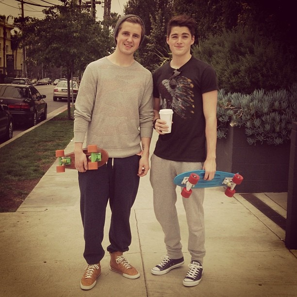 Marcus butler and finnigan going for a morning skate... I'm lovin the outfits boys ;) xx