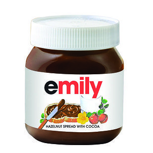 Staff create them bespoke in store so you can have any name you like. | You Can Now Buy Nutella Jars Personalized With Your Own Name