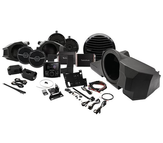 Rockford Fosgate RZR-STAGE4 600 Watt stereo, front and rear speaker, and subwoofer kit for select Polaris® RZR® models