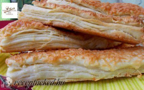 Leveles, sajtos rudak recept fotóval