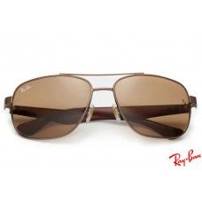 Ray Ban RB2483 Aviator sunglasses with brown frame and coffee lenses