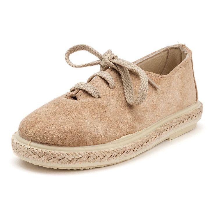 Zapatillas Cordones Serraje y Yute Niños. Calzado barato