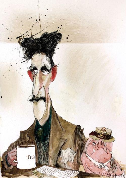 George Orwell by Ralph Steadman