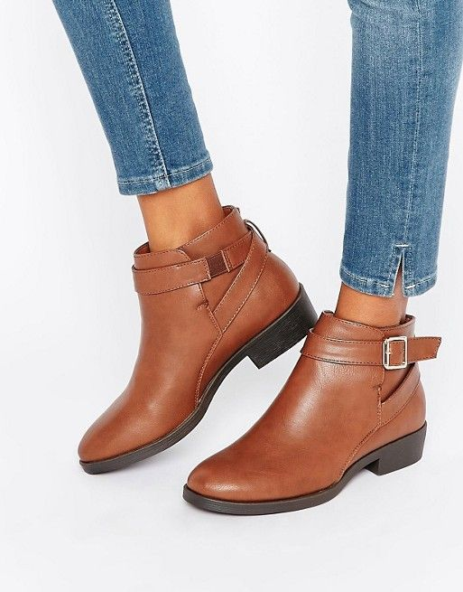 New Look | New Look Buckle Flat Ankle Boot