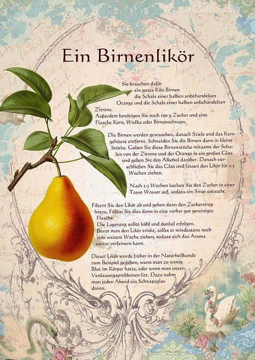 Ein Birnenlikör                                                       …