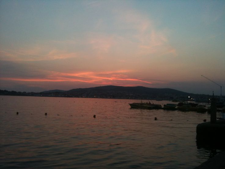 Sunset on Vodice , Croatia