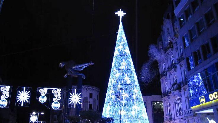 Así fue el encendido del árbol de Navidad en Vigo